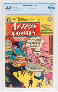 Action Comics #186 (DC, 1953) CBCS VG- 3.5 Off-white to white pages