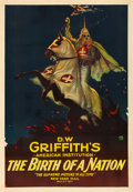"""Movie Posters:Drama, The Birth of a Nation (Epoch Producing, R-1921). Fair/Good on Linen. One Sheet (28"""" X 41"""").. ..."""