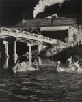 Photographs:Gelatin Silver, O. Winston Link (American, 1914-2001). Hawksbill Creek Swimming Hole, Luray, Virginia, 1956. Gelatin silver, 1999. 19-1/...