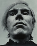 Photographs:Gelatin Silver, Arnold Newman (American, 1918-2006). Andy Warhol, 1973. Gelatin silver, printed later. 19-1/4 x 15-3/8 inches (48.9 x 39...