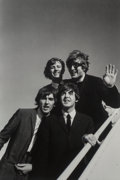 Photographs:Gelatin Silver, Bill Ray (American, b. 1936). The Beatles Land in Los Angeles, 1964. Gelatin silver, printed later. 12-3/4 x 8-5/8 inche...