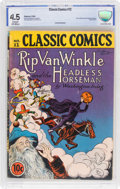 Golden Age (1938-1955):Classics Illustrated, Classic Comics #12 Rip Van Winkle and the Headless Horseman (Gilberton, 1943) CBCS VG+ 4.5 Cream to off-white pages....