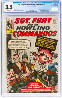 Sgt. Fury and His Howling Commandos #1 (Marvel, 1963) CGC VG- 3.5 White pages