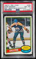 Hockey Cards:Singles (1970-Now), 1980 O-Pee-Chee Mark Messier #289 PSA NM-MT 8....