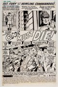 Original Comic Art:Panel Pages, Dick Ayers and Syd Shores Sgt. Fury #90 Story Page 1 Original Art (Marvel, 1971)....