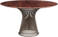 Furniture , Warren Platner (American, 1919-2006). Dining Table, circa 1965, Knoll. Hardwood, bronzed steel. 28 x 54 inches (71.1 x 1...