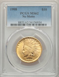 Indian Eagles, 1908 $10 No Motto MS62 PCGS....