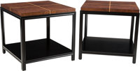 Tommi Parzinger (German/American, 1903-1981) Pair of Side Tables, circa 1950 Lacquered mahogany, bir