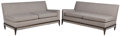 Tommi Parzinger (German, 1903-1981) Pair of One-Arm Sofas, mid-late 20th century Lacquered wood, uph