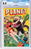 Golden Age (1938-1955):Science Fiction, Planet Comics #42 (Fiction House, 1946) CGC VF 8.0 Off-white to white pages....