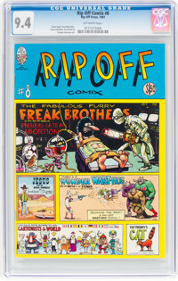 Rip Off Comix #8 (Rip Off Press, 1981) CGC NM 9.4 Off-white pages