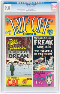 Rip Off Comix #6 (Rip Off Press, 1980) CGC VF/NM 9.0 Off-white to white pages