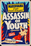 "Movie Posters:Exploitation, Assassin of Youth (Roadshow, 1937). Folded, Fine/Very Fine. One Sheet (27"" X 41""). Exploitation.. ..."