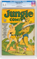 Golden Age (1938-1955):Adventure, Jungle Comics #13 Rockford Pedigree (Fiction House, 1941) CGC VF+ 8.5 Cream to off-white pages....