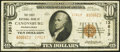 National Bank Notes:Pennsylvania, Canonsburg, PA - $10 1929 Ty. 2 The First NB Ch. # 13813 Fine-Very Fine.. ...