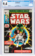 Bronze Age (1970-1979):Superhero, Star Wars #1 (Marvel, 1977) CGC NM 9.4 White pages....