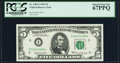 Fr. 1969-I $5 1969 Federal Reserve Note. PCGS Superb Gem New 67PPQ