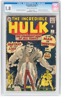 The Incredible Hulk #1 (Marvel, 1962) CGC GD- 1.8 Cream to off-white pages