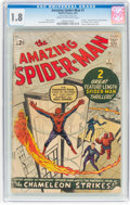 Silver Age (1956-1969):Superhero, The Amazing Spider-Man #1 (Marvel, 1963) CGC GD- 1.8 Cream tooff-white pages....