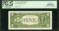 Error Notes:Miscellaneous Errors, Fr. 1913-F $1 1985 Federal Reserve Note with Back Plate Number 129 at Left. PCGS Gem New 65PPQ.. ...