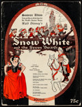 "Movie Posters:Animation, Snow White and the Seven Dwarfs (Bourne, 1937). Fine/Very Fine. Souvenir Sheet Music Album (50 Pages, 9"" X 11.75""). Animatio..."
