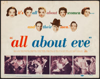 "All About Eve (20th Century Fox, 1950). Fine/Very Fine. Title Lobby Card (11"" X 14""). Academy Award Winners..."