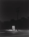 Photographs:Gelatin Silver, George A. Tice (American, b. 1938). Telephone Booth, 3 A.M., Rahway, 1974. Gelatin silver, 1980. 13-1/8 x 10-3/8 inches ...
