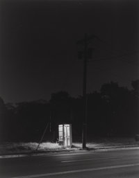 George A. Tice (American, b. 1938) Telephone Booth, 3 A.M., Rahway, 1974 Gelatin silver, 1980 13-