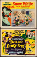 """Movie Posters:Animation, Fun and Fancy Free & Other Lot (RKO, 1947). Fine/Very Fine. Title Lobby Card & Lobby Card (11"""" X 14""""). Animation.. ... (Total: 2 Items)"""