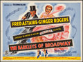 "Movie Posters:Musical, The Barkleys of Broadway (MGM, 1949). Folded, Fine/Very Fine. British Quad (30"" X 40"") & Lobby Card (11"" X 14""). Musical.. ... (Total: 2 Items)"