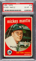 Baseball Cards:Singles (1950-1959), 1959 Topps Mickey Mantle #10 PSA EX-MT 6....