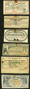 Confederate Notes:Group Lots, A Selection of Six Bond Coupons from South Carolina (5) and the Confederacy (1) ca. 1861-1892. Fine or better.. ... (Total: 6 items)