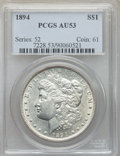 Morgan Dollars: , 1894 $1 AU53 PCGS. PCGS Population: (396/2533). NGC Census: (265/1861). CDN: $975 Whsle. Bid for problem-free NGC/PCGS AU53...