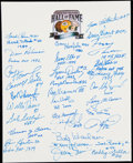 Autographs:Letters, Green Bay Packers Multi-Signed Sheet (32 Signatures)....
