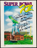 Football Collectibles:Programs, 1978 Super Bowl XII Program Signed by Danny & Randy White....
