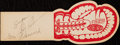 Autographs:Others, 1947 Robinson & Lesnevich Dual-Signed Boxing Ticket. ...