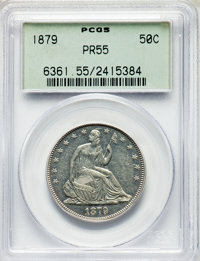 1879 50C PR55 PCGS. Housed in an old green label holder. PCGS Population: (5/381). NGC Census: (1/264). Mintage 1,100...