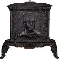 Lewis Cass: A Wonderful Cast Iron Stove from the 1848 Presidential Campaign