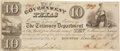 Autographs:Statesmen, Republic of Texas $10 Currency Note. ...