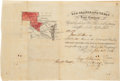 Miscellaneous, Texas and Rio Grande Land Grant Certificate. One ...