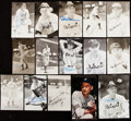 Autographs:Post Cards, 1945 Detroit Tigers - World Series Champions - Signed Image Lot of 22....