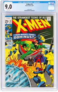 X-Men #72 (Marvel, 1971) CGC VF/NM 9.0 White pages