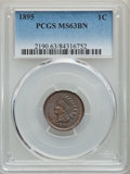 Indian Cents, 1895 1C MS63 Brown PCGS. PCGS Population: (109/131). NGC Census: (75/172). CDN: $60 Whsle. Bid for problem-free NGC/PCGS MS...