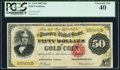 Large Size:Gold Certificates, Fr. 1194 $50 1882 Gold Certificate PCGS Extremely Fine 40.. ...
