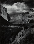 Photographs:Gelatin Silver, Ansel Adams (American, 1902-1984). Thunderstorm, Yosemite Valley, California, 1945. Gelatin silver, 1979. 19-1/2 x 1... (Total: 2 )