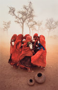 Photographs:Dye destruction, Steve McCurry (American, b. 1950). Dust Storm, Rajasthan,India, 1983. Oversized dye destruction, 2004. 37-1/8 x 24-5/8...