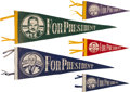Political:Textile Display (1896-present), Harry S Truman and Thomas Dewey: Group of Pennants.... (Total: 5Items)