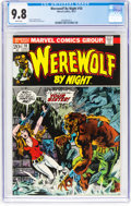 Bronze Age (1970-1979):Horror, Werewolf by Night #10 (Marvel, 1973) CGC NM/MT 9.8 White pages....