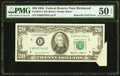 Error Notes:Attached Tabs, Butterfly Fold Error Fr. 2075-E $20 1985 Federal Reserve Note. PMGAbout Uncirculated 50 EPQ.. ...