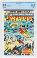 Bronze Age (1970-1979):Superhero, The Invaders #1 (Marvel, 1975) CBCS NM/MT 9.8 White pages....